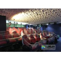 Quality Rea and Black Leather Motion Chair 5D Movie Theater 5D Simulator Quality Guarantee wholesale
