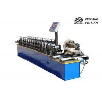 Quality Aluminum Steel Roller Shutter Door Roll Forming Machine FX98 With Fly Saw wholesale