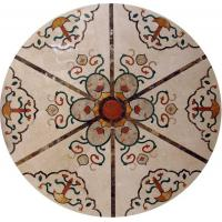 Quality Marble Water Jet Mosaic Tile Medallion Patterns , Inlay Mosaic Tabletop Patterns wholesale