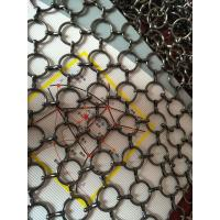 Quality Metal Ring Wire Mesh Cabinet Panels 0.5-2m Width For Hotels , Villas wholesale