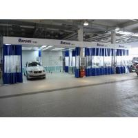 Quality 6.3M Rear Side Draft LED lights Paint Prep Station Spray Booth For BMW Workshop wholesale