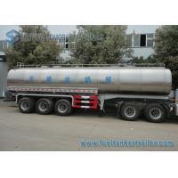 Quality 45m3 304 2B Edible Grade Chemical Tank Trailer 3 Axle For Milk / Liquid Food wholesale