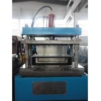 Cheap 5 Tons Steel Frame Roll Forming Machine , Sheet Metal Rolling Machine Manual Decoiler 15KW for sale