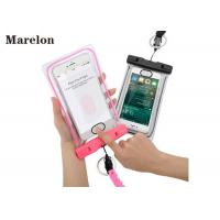 Cheap Transparent Swimming Waterproof Cell Phone Cases With Lanyard Strap for sale