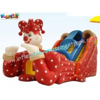 Quality Kids Inflatable Colorful PVC tarpaulin Commercial Inflatable Slide with digital printing wholesale
