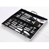 Quality 18 Pieces Stainless Steel BBQ Set with Aluminum Storage Case - Heavy Duty Professional Outdoor Barbecue Grill Tool wholesale