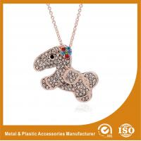Quality Crystal Dog Metal Chain Necklace , Long Silver Chain Necklace wholesale