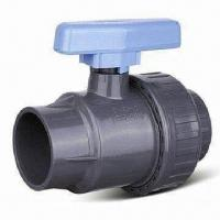 China PVC Single-union Ball Valve, Available from 1/2 to 2 inches Sizes on sale