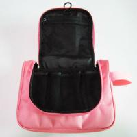 Quality Cute Nylon Hanging Travel Makeup Bag Pink Color For Women Wash wholesale
