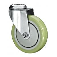 """Quality 5""""X1-1/4 Customized PU Caster Wheel With Swivel Kingpin Fitting wholesale"""