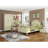 Cheap Rubber Wood made Kids/Children/Single white bedroom 1.2/1.4M small bed Space for sale