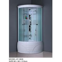 Quality 900mm quadrant shower enclosure white painted chrome Color with top light wholesale
