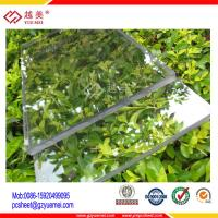 China UV coated clear lowes polycarbonate solid panels roofing sheet on sale