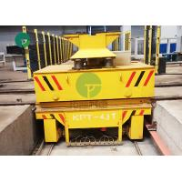 Quality Rail Guided Battery Platform Ferry Motorized Trolley Transport Cart With Lifting System wholesale