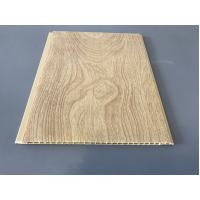 China 10 Inch × 7.5mm PVC Ceiling / Wall Panel Peanut Wood Pattern Smooth Slab on sale