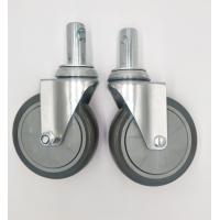 Quality Carts 5 Inch Caster Wheels , Shelf Metal Food Service Equipment Casters wholesale