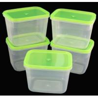 Buy cheap Plastic 5PC Transprent Food Storage Box with Colorful Cover product