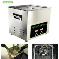 Quality 200W 10l Ultrasonic Digital Cleaner Tabletop For Automotive Parts Motor Engine wholesale
