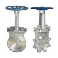 China Stainless Steel Knife Gate Valve Operating Temperature -100℃ - 600℃ on sale