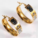 Quality Latest Model Artificial Hoop Earrings , Fashion Hanging Round Hoop Earrings wholesale