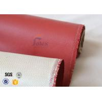 "Quality 800℃ Single Side Silicone Coated Fiberglass Cloth 680g 36"" ISO9001 2008 wholesale"
