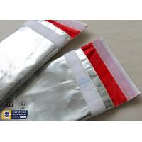 Quality Fireproof Bag Document 1022℉ Fire Resistant Pouch Fiberglass Silver Smooth wholesale