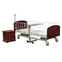 China Height Adjustable Hospital Patient Bed Healthcare Beds With Brake Function on sale