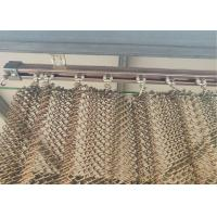 Quality Copper Colored Stainless Steel Wire Mesh Flat Silk Spiral Decoration Net wholesale