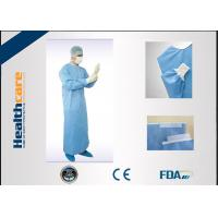 China EN13485 Disposable Surgical Gowns Anti - Fluid Nonwoven 4 Ties Single Use on sale