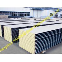 Quality Warehouse Metal Roofing Sheets / Polyurethane Panel Heat Insulation wholesale