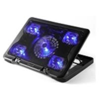 China 5.6 laptop cooler stand 5 LED fan notebook cooling pad with speed control on sale