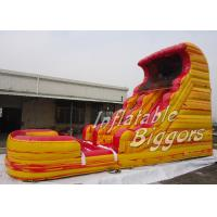 Quality Ice / Fire Orange Inflatable Slide Bouncer Rental For Children Birthday Party wholesale