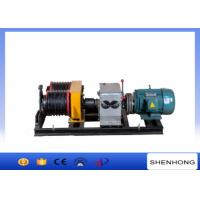 Quality 50KN Double Drum Electric Power Cable Pulling Tools Winch With 6 Groove wholesale