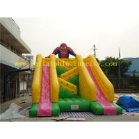 Quality Super Spiderman Double Lanes Inflatable Dry Slides , Big Kahuna Inflatable Water Slide for Children wholesale