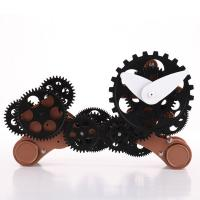 Funky Decorative Silver Dog Gear Table Clock For Kids