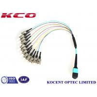 Buy cheap MPO ST Fiber Optic Patch Cord 50/125 OM3 OM4 10G 40G 100G 60dB Return Loss from wholesalers
