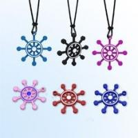China Cut Ship Shape Negative ion  Silicone Pendant Necklace for expedite blood circulation on sale