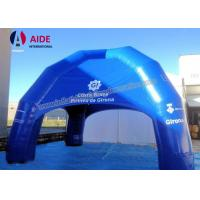 Quality CE Blue Large Inflatable Tent , 6M Oxford Fabric Inflatable Spider Dome Tent wholesale