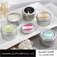 Quality Chemical Free Scented Luxury Soy Candles , Personalised Tin Candles For Bathroom wholesale