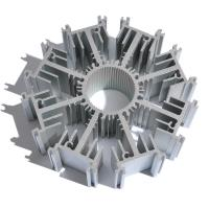 China Customized Round Aluminum Heat Sink Extrusion AL6063 T5 Profile Radiator on sale