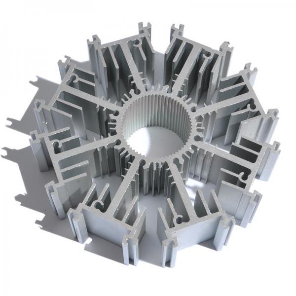 Cheap Customized Round Aluminum Heat Sink Extrusion AL6063 T5 Profile Radiator for sale