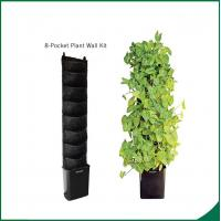 Quality Eco Friendly 8 Pocket Vertical Garden Kit Wall Garden Growing Bags 25x13cm Felt material Black or as request wholesale