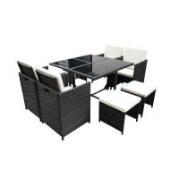 Quality Luxury All Weather Chair 7 Piece Outdoor Wicker Sofa Set SGS Approval wholesale