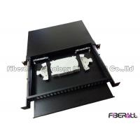 Quality 48 Fibers Slide Out Fiber Patch Panel With Rails And Front Board To Bear Pigtail wholesale