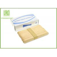Quality Adult / Children Sterile Wooden Tongue Depressor In Bulk 150 * 18 * 1.6mm Size wholesale