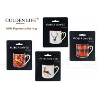 Buy cheap new bone china 90cc straight shape espresso cup with Merry Christmas design/deer from wholesalers