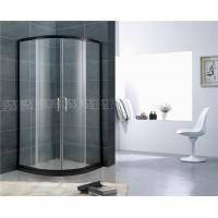 Quality Black Aluminum Alloy D Shaped Shower Enclosure Curved Glass With SGCC Certification wholesale