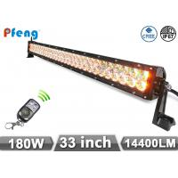 Quality 33 inch 180W Cree Led Light Bar With Amber and White Color Flashing wholesale