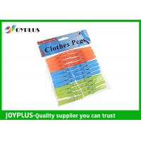 Quality PP Material Colored Plastic Clothespins Set Customized Color / Size Available wholesale
