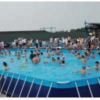 Quality SGS 10M * 10M PVC Swimming Pool , Metal Frame Swimming Pool For Summer wholesale